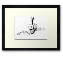Train-ing Day Framed Print