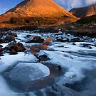Glamaig in Winter, Sligachan.  Isle of Skye. Scotland. by photosecosse /barbara jones