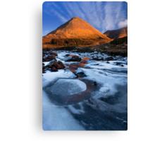 Glamaig in Winter, Sligachan.  Isle of Skye. Scotland. Canvas Print