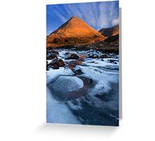 Glamaig in Winter, Sligachan.  Isle of Skye. Scotland. Greeting Card