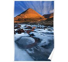 Glamaig in Winter, Sligachan.  Isle of Skye. Scotland. Poster