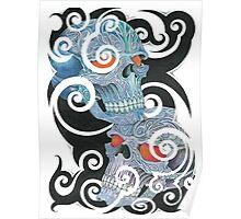 Tribal Skulls Poster