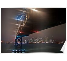 A Misty Night Under the Bay Bridge Poster