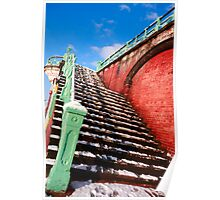 Snowy stairs Poster