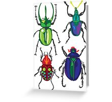 Beetles Greeting Card