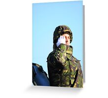 Military Parade Greeting Card