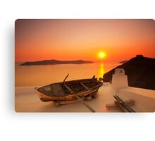 Thira Sunset Canvas Print