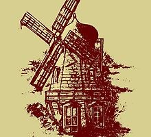 Old Holland windmill by mangulica