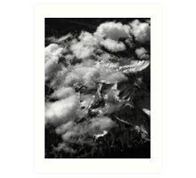 Peaks and Clouds Art Print