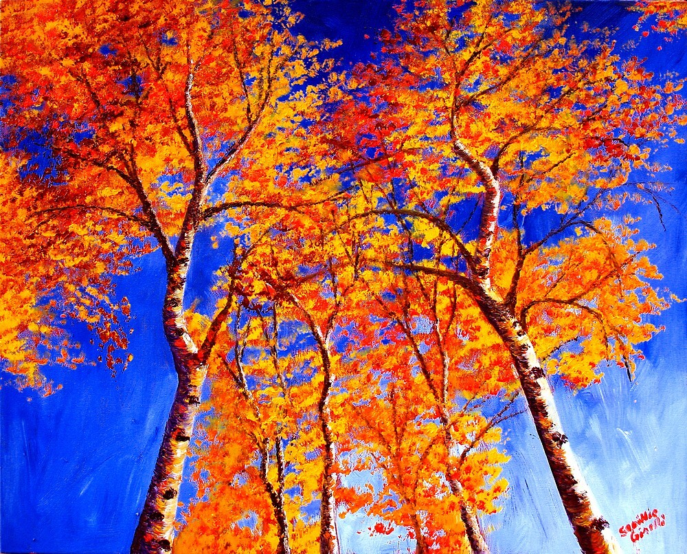 Aspens in the Sky by sesillie