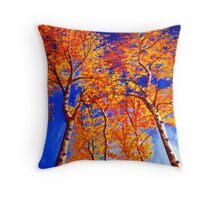 Aspens in the Sky Throw Pillow
