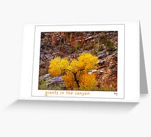 Giants in the Canyon Greeting Card