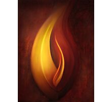 OILPAINTING FROM FLAME FRACTAL Photographic Print
