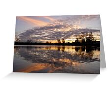 The Lough at sunset. Cork, Ireland  Greeting Card