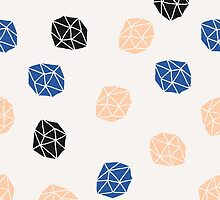 Pink, Blue & Black Polygons by Iveta Angelova