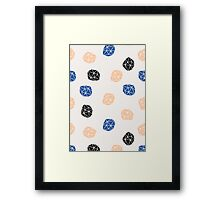Pink, Blue & Black Polygons Framed Print