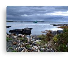Blue Rocks-Late Autumn Canvas Print