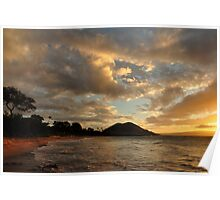 Sunset at Makena Beach, Maui Poster
