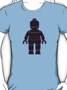 Minifig with Curved Stripes T-Shirt