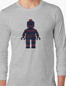 Minifig with Curved Stripes Long Sleeve T-Shirt