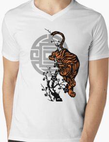 Prowling Tiger Mens V-Neck T-Shirt