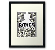 'Minifig Bones' Framed Print
