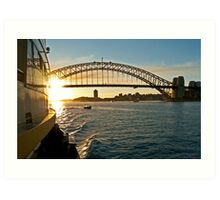 Sydney Ferry Ride Art Print
