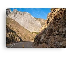 Road into King's Canyon Canvas Print