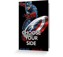 Civil War - Captain America Greeting Card