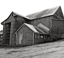 Black and White Barn by MPICS