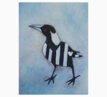 Magpie Looking Left by Julie  Sutherland