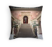 Grand Staircase - Ryan Office Building Throw Pillow
