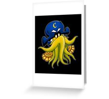 Captain Cthulhu Greeting Card