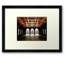 Bethesda Fountain Center Framed Print