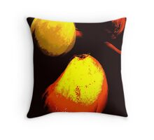 floating fruit... an abstract Throw Pillow