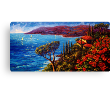 French Riviera Maison Canvas Print
