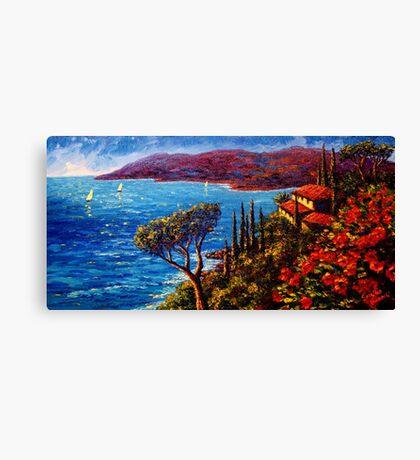 French Riviera Maison Canvas Print