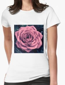 Rose - simple and pretty! Womens Fitted T-Shirt