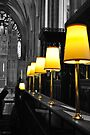 lamps, bristol cathedral, england by gary roberts
