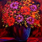Daisies in a Pot by sesillie