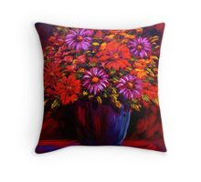 Daisies in a Pot Throw Pillow