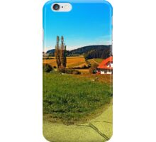 Countryside road with two options iPhone Case/Skin