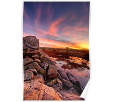 Rock Wall Sunset  Poster