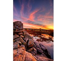 Rock Wall Sunset  Photographic Print