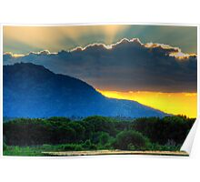 Big Cloud, Big Mountain, Big Sunset Poster