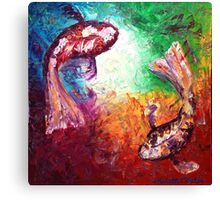 The Two Koi Canvas Print