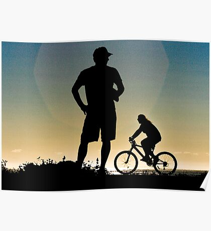 Daybreak silhouettes Poster