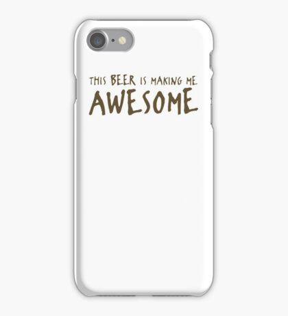 Beer Awesome Funny TShirt Epic T-shirt Humor Tees Cool Tee iPhone Case/Skin