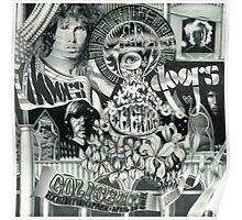 Doors Concert Poster - Toronto, (1968) - ballpoint on board Poster