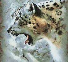 PAINTED SNOW LEOPARD by cdudak
